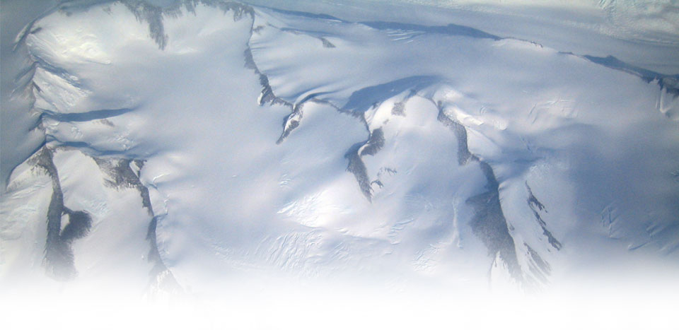 A view of the Trans-Antarctic Range en route to the South Pole.