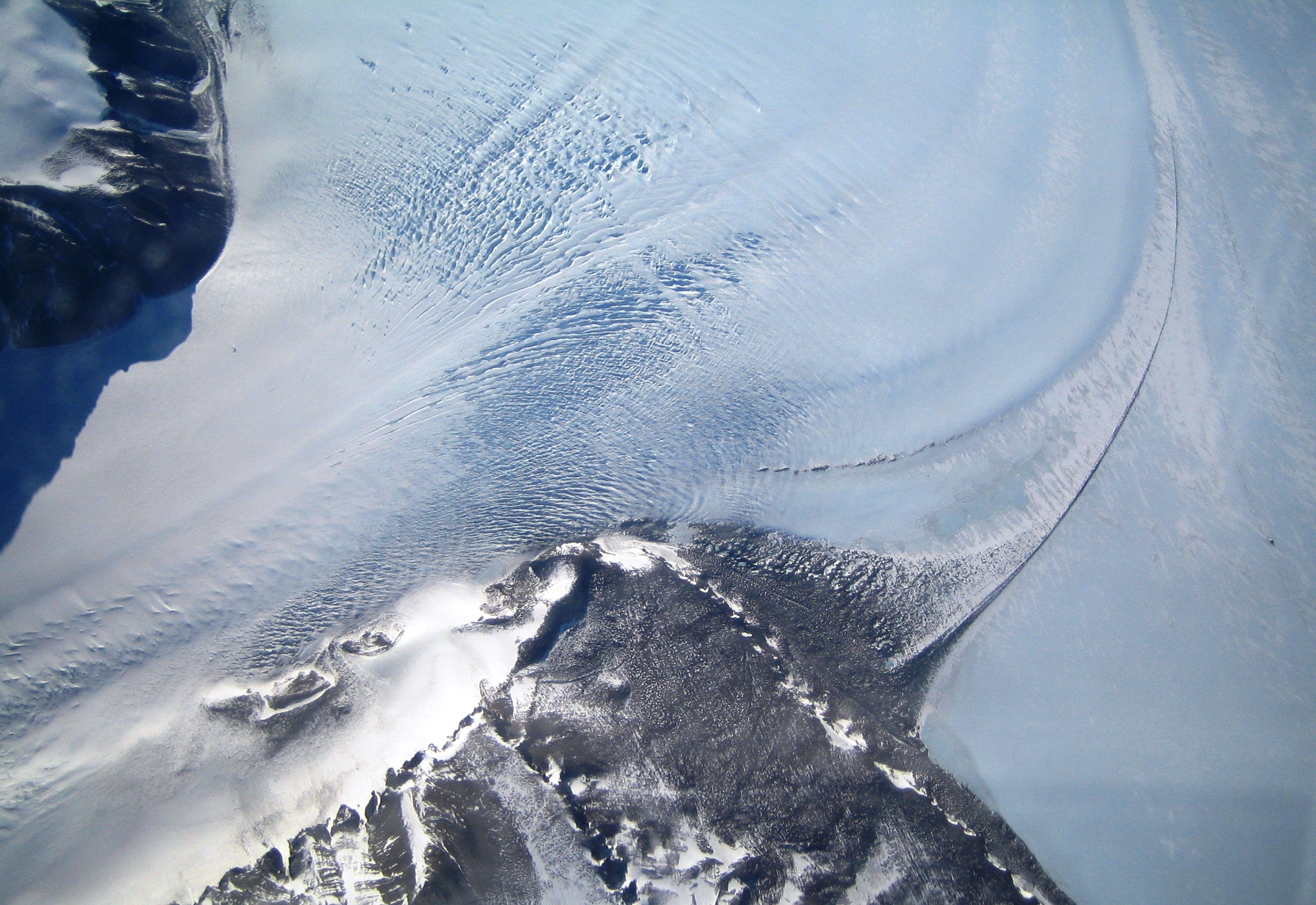 Glacier Head in the Trans-Antarctic Range